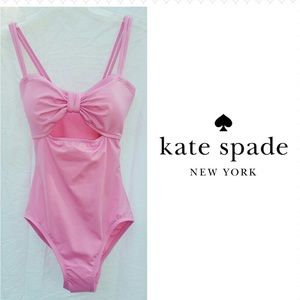 NWT kate spade Pink Tie Cutout One Peice Swimsuit
